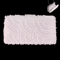 PEARL EVENING BAG W/SWIRL ALL AROUND