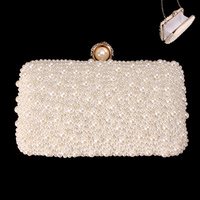 PEARL EVENING BAG W/SPOT PEARLS AROUND