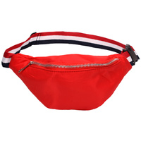 FABRIC STRIPED BELT FANNY PACK