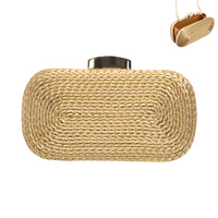 BRAIDED EVENING CLUTCH W/STRAP