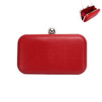 TEXTURED EVENING CLUTCH W/STRAP