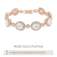 ROSE GOLD PLATED LRG CZ STONE BRACELET