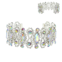 OVAL SHAPE BRACELET WITH GEMS