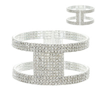 DOUBLE LAYER BRACELET SQUARE GEM