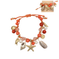 CORAL FASHIONABLE STRING BRACELET (OCEAN THEME)