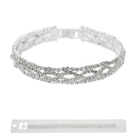 Decorative Rhinestone Band Clasp Bracelet Bm1544Scl