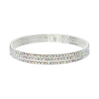 3 Line Rhinestone Bangle