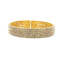 5 Line Rhinestone Bangle