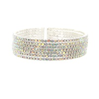 7 Line Rhinestone Bangle
