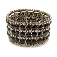 METAL STRETCH STONE BRACELET