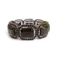 METAL STONE RECTANGLE STONE BRACELET