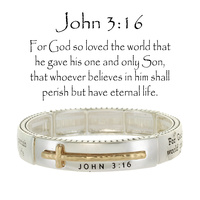 JOHN 3:16 DOUBLE STRETCH BRACELET