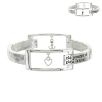 INSPIRATIONAL FAITH HOPE LOVE STRETCH BRACELET