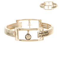 HAVE FAITH IN YOUR SELF INSPIRATION BRACELET