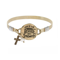 """GOD IS OUR REFUGE"" WIRE BRACELET"