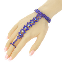 RHINESTONE BRACELET ATTACHED TO RING
