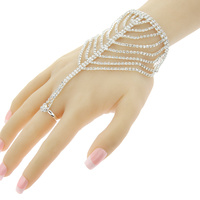 LAYERED DROP RHINESTONE RING BR