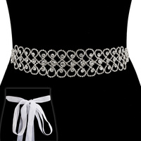 LOOPY GEM BELT W/RIBBON BACKING