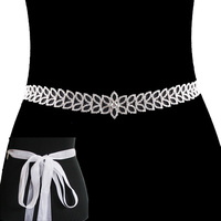 WEDDING PROM PETAL RHINESTONE BELT