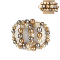 5 PCS PEARL STRETCH BRACELET