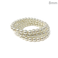 3 PC 8MM GLASS PEARL STRETCH BR