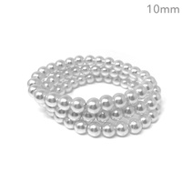 3 PC 10MM GLASS PEARL STRETCH BR
