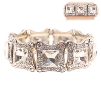 SQUARE MIRROR STETCH STONE BRACELET