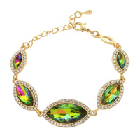 MIRRORED HALO TEARDROP BRACELET