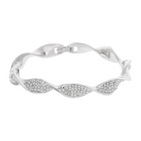 TWIST METAL STONE BANGLE BRACELET