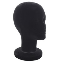 BLACK FOAM HEAD MANNEQUIN