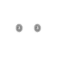 OVAL RHINESTONE POST EARRING