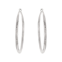 TWISTED METAL HOOP EARRING