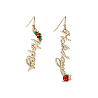 HAPPY HOLIDAY FISHHOOK EARRING
