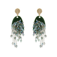 DANGLY FASHION BEADED DROP EARRING
