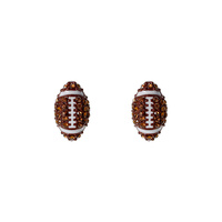 RHINESTONE FOOTBALL EARRING
