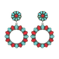 WESTERN TQ CIRCLE EARRINGS