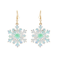 WHITE SNOWFLAKE CHRISTMAS EARRINGS