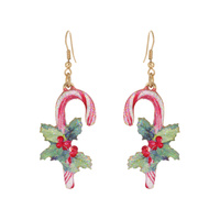 CANDY CANE CHRISTMAS EARRING