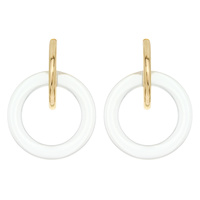 LUCITE W/ METAL POST EARRING