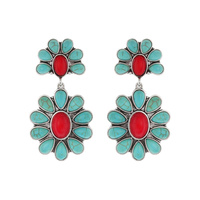 WESTERN TQ FLOWER EARRING