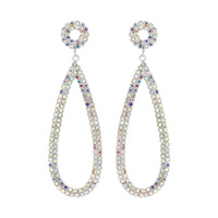 RHINESTONE TEARDROP SHAPE DROP ER