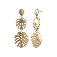 PALM LEAVES THEME POST EARRING