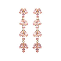 MARQUISE LEAF LINEAR DROP EARRING
