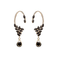 FANCY HOOK DROP RHINESTONE EARRING