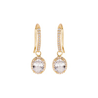 DANGLY CZ DROP EARRING