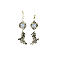 WESTERN THEME DANGLY EARRING