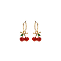 STONE CHERRY DROP EARRING