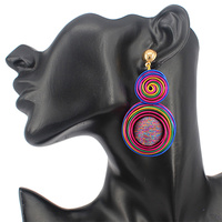 2 WIRE SWIRL DROP EARRING