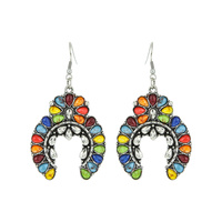 WESTERN SQUASH BLOSSOM EARRINGS