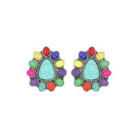 WESTERN DESIGN TURQUOISE EARRINGS